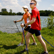 Nordic walking — Stock Photo #6255601