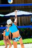 Beach volleyball — Stock fotografie
