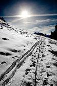 Alpy v zimě — Stock fotografie