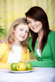 Portrait of two girls — Stock Photo