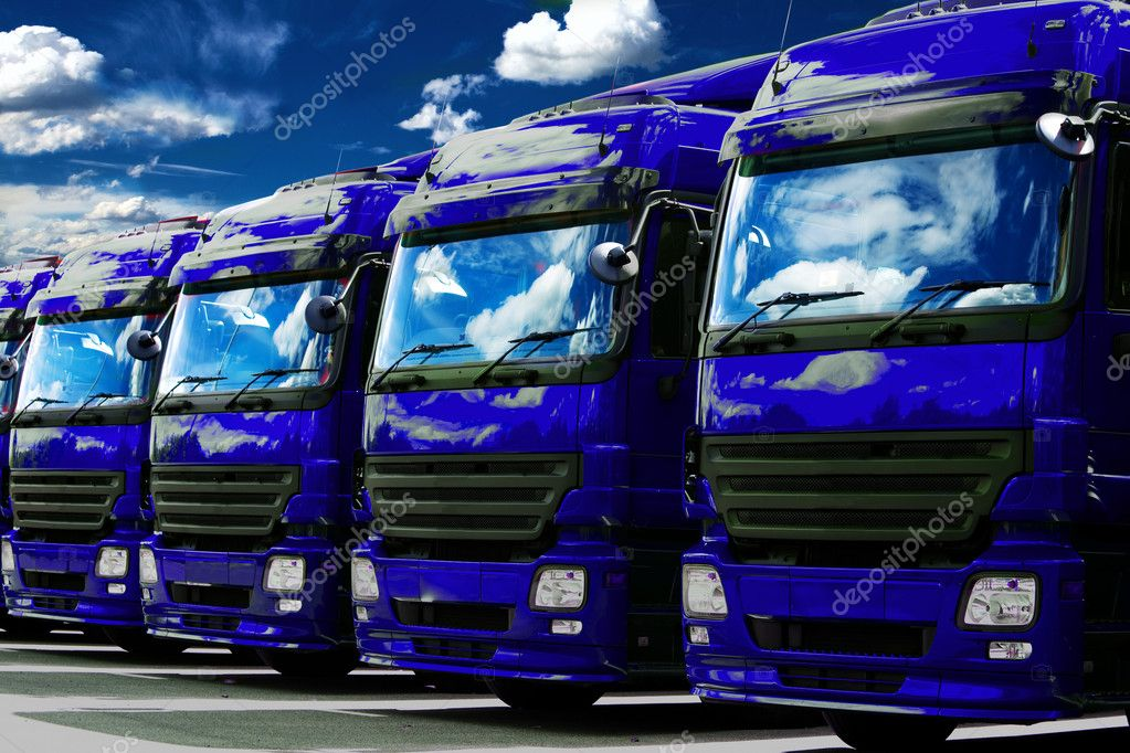 Trucks at the car park — Stock Photo #6253308