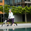 Cycling woman — Stock Photo #6268864