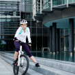 Cycling woman — Stock Photo #6268880