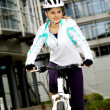 Cycling woman — Photo