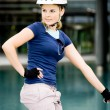 Cycling woman — Stockfoto