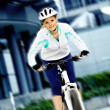 Cycling woman — Stock Photo #6432779