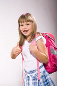 First grader girl — Stock Photo