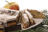 German christmas cake — Stock Photo