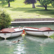 Two rowing boats — Stock Photo