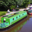 Barges in skipton canal — Stock Photo