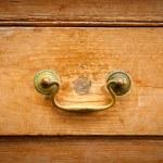 dřevěný šuplík — Stock fotografie