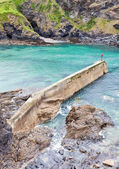 An old stone pier in Port Isaac, Cornw — Stock Photo