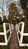 White footbridge — Stock Photo
