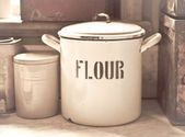 Flour tin — Stock Photo