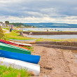 Boats at Findhorn - Stock Photo