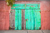 Blue door — Stockfoto