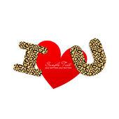 I love You sticker — Stock Vector