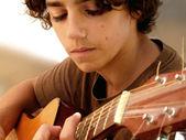 Closeup of Young Musician — Stock Photo