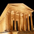 Roman Temple in Nimes (France) - Stock Photo