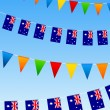 Stock Vector: AustraliBunting flags