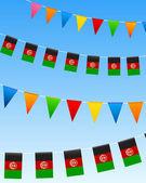 Afghánistán prapory vlajky — Stock vektor