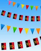 Banderas del empavesado de angola — Vector de stock