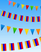 Armenia Bunting flags — Stock Vector