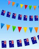 Australia Bunting flags — Stock Vector