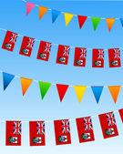 Bermuda Bunting flags — Stock Vector