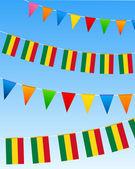 玻利维亚旗布标志 — 图库矢量图片