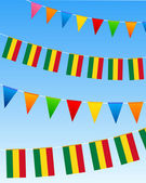 Bolivien-flagge-flaggen — Stockvektor