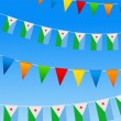 Royalty-Free Stock Vector Image: Djibouti Bunting flags