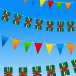 Dominica Bunting flags - Stock Vector