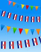 Croatia Bunting flags — Stock Vector