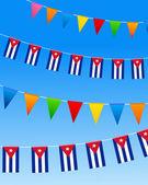 Cuba Bunting flags — Stock Vector