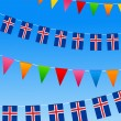 Iceland Bunting flags — Stock Vector #6197645