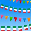 Stock Vector: Italy Bunting flags