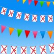 Jersey Bunting flags — Stock vektor #6197733
