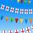 England Bunting flags - Stock Vector