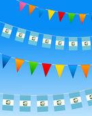 Guatemala Bunting flags — Stock Vector