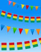 гвинея овсянка флаги — Cтоковый вектор