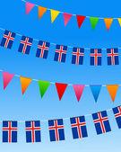 Drapeaux de bruant islande — Vecteur
