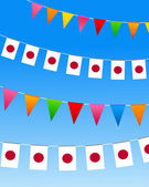 Japan Bunting flags — Stock Vector