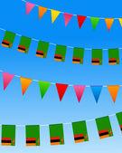 赞比亚旗布标志 — 图库矢量图片