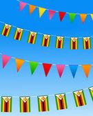 Zimbabwe Bunting flags — Stock Vector