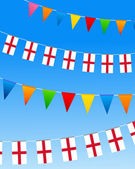 England Bunting flags — Stock Vector