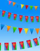 Eritrea Bunting flags — Stock Vector