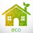 Vector Eco-House - Stock Vector