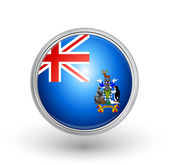 British overseas territory of south flag — Stock Vector