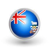 British Overseas Falkland Island Flag Button — Stock Vector